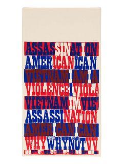 Corita Kent(American, 1918-1986)american sampler (from heroes and sheroes), 1969