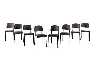 Jean Prouve (French, 1901-1984) Set of Eight Standard Chairs,Vitra, France / Germany