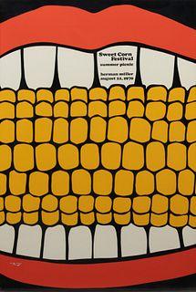 Stephen Frykholm (American, b. 1942)  Sweet Corn Festival Summer Picnic, Herman Miller, 1970