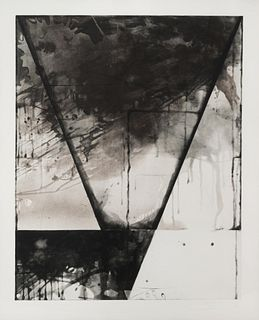 Shoichi Ida (Japanese, 1941-2006) Descended Triangle - Triangle - Black, 1987