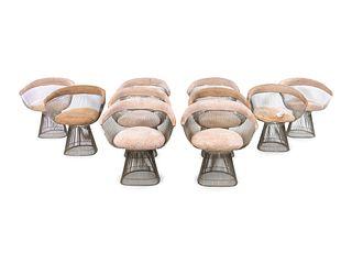 Warren Platner (American, 1919-2006) Set of Ten Dining Chairs,Knoll, USA