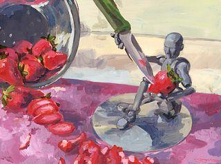 CHERISH SPRINGER '21, Joey Chopping Strawberries