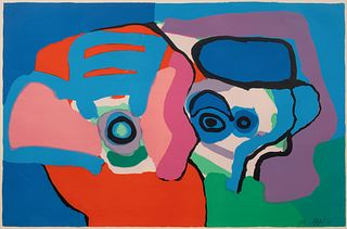Karel Appel (Dutch, 1921-2006) Head Like Clouds, 1971