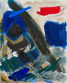 Jennie Haddad  Composition in Blue