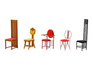 Vitra 21st Century Collection of Five Miniatures, c. 2000
