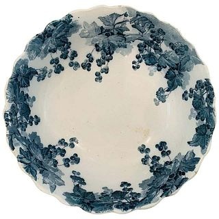 Large English Bowl By Ridgways Royal Semi Porcelain 16D