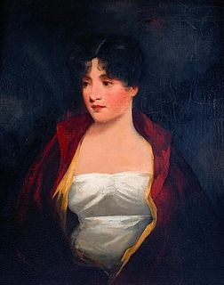 Manner of Henry Raeburn Oil, Portrait of a Young Beauty