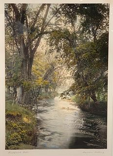 Wallace Nutting Hand Colored Photograph, Large Scale