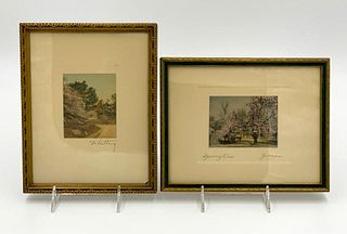 Wallace Nutting and Gibson, Two Prints