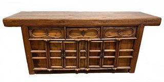 Chinese Yew Wood Cabinet