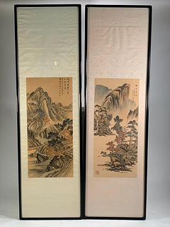 Two Chinese Hanging Scroll Paintings
