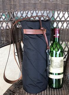 Wine bag - Black nylon quilted