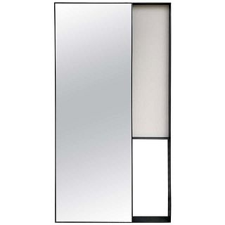 Full Length Mirror in Solid Steel Frame w/ Aged Patina