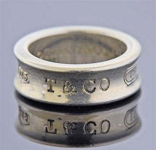 Tiffany & Co 1837 Silver Band Ring