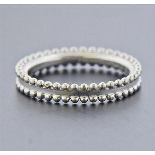Van Cleef & Arpels Perlee Platinum Wedding Band Ring