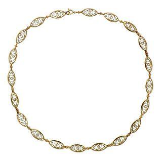 Antique 18K Gold Link Necklace