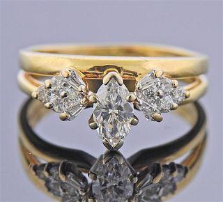 14K Gold Diamond Engagement Bridal Ring