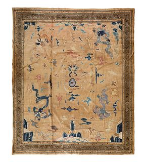 A Laristan Wool Rug in the Chinese Taste