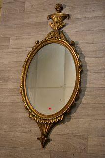 Gold Leaf Framed Sheraton Style Mirror