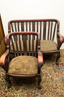 Bentwood Settee and Chair Set