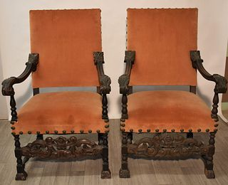Assembled Set of Italian Style Armchairs