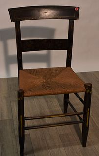 Faux Rush Seat Side Chair, 19th C