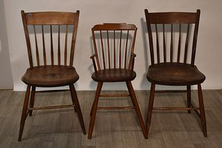 Child's Windsor Chair and Two Others