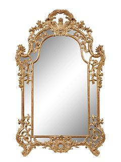 A Pair of Rococo Revival Giltwood Mirrors