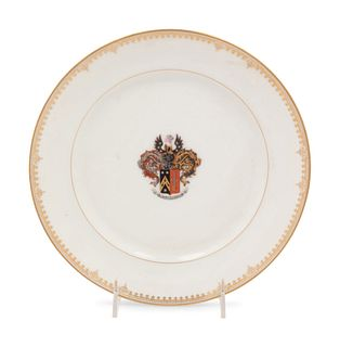 A Russian Armorial Porcelain Plate