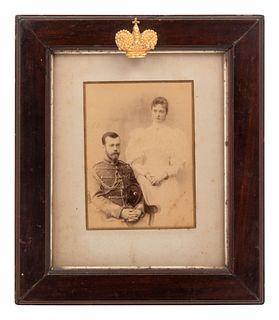 A Russian Imperial Presentation Photograph of Nicholas II and Alexandra Feodorovna