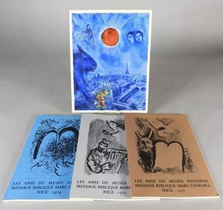 Four Signed Books, Marc Chagall