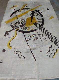 Hand Woven Rug, Design After Wassily W. Kandinsky