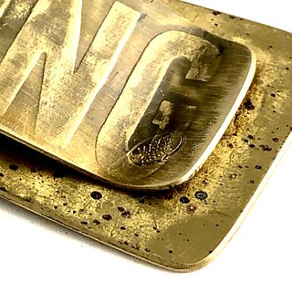 Engineering Brass Money Clip