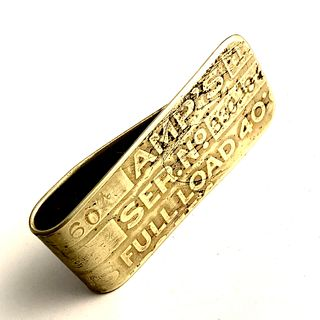 """Amp's"" Brass Money Clip"