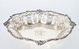 Sterling Silver Reticulated Dish, 11 OZT