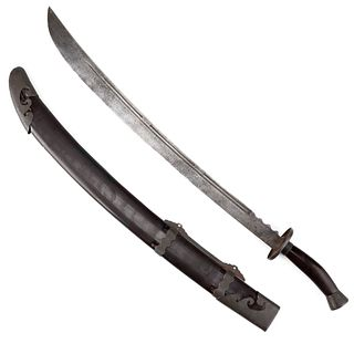 19th Century Chinese Sword w/ Scabbard