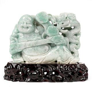 Modern Chinese Carved Jade Buddha