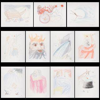 "Salvador Dali ""Our Historical Heritage"" Engravings Portfolio"