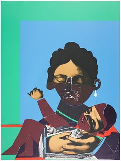 "Romare Howard Bearden ""Mother and Child"" Screenprint"