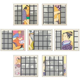 "Roger Shimomura ""Seven Views of Japanese Restaurant"" Serigraphs"