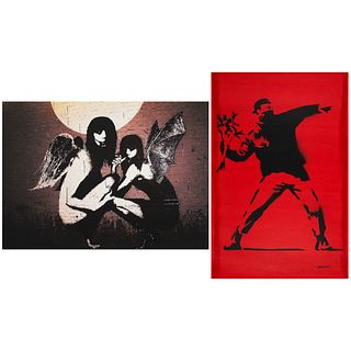 Banksy Angel Demon & Flower Thrower Prints