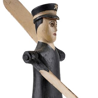 20th c. Folk Art Policeman Whirligig