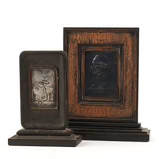 Grp: 2 Bronze Plaques - Roty & Yencesse