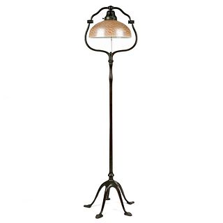 Tiffany Five Footed Bronze Floor Lamp w/ Tiffany Shade