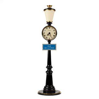 Le Coultre Rue de la Paix Lamp Post Desk Clock