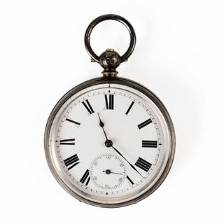 Sterling Open Face Pocket Watch