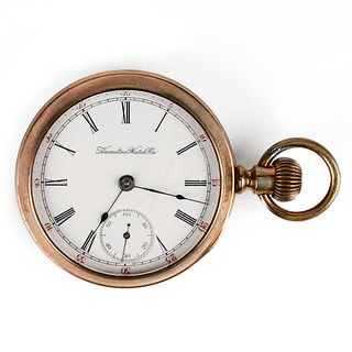 Hamilton Glass Back Open Face Pocket Watch