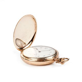 Burlington Gold-Filled Full Hunter Pocket Watch