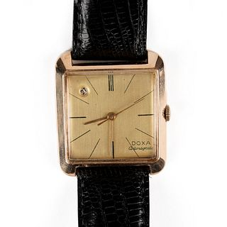 Doxa 18K Gold Square Wristwatch