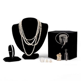 Grp: 10 Mixed Jewelry - Sterling & Pearls